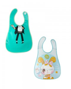 Comet Busters Plastic Waterproof Washable Stylish Printed Baby Bib Apron