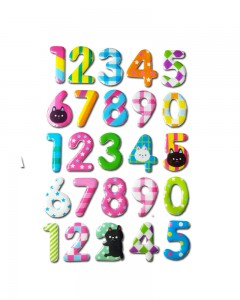 Comet Busters Colorful 3D Number Stickers