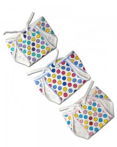 Comet Busters New Born Baby Washable Hosiery Cotton Cloth Nappies (Pack Of 3)