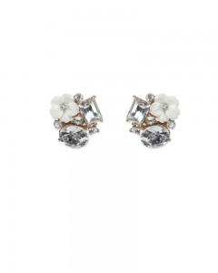 Comet Busters Elegant Crystals Stud Earrings for Women and Girls