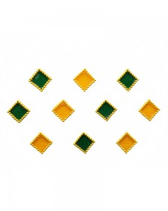 Comet Busters Yellow Green Square Bindi