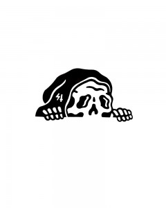 Comet Busters Mobile vinyl Sticker for all mobiles (Black)