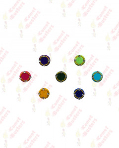 Comet Busters Beautiful Multicolor Velvet Bindi With Stones