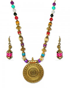 Comet Busters Traditional Multicolor Beads Necklace Set for Women
