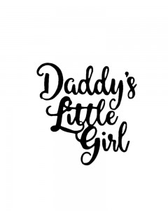 Comet Busters Cute Temporary Tattoo (Daddy's Little Girl)