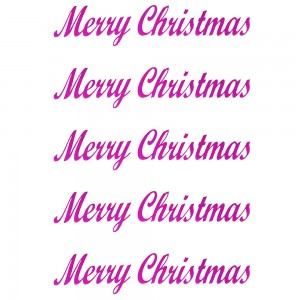 Comet Busters Merry Christmas Pink Gift Stickers for Envelopes, Gift Bags, Christmas Decorations (STK020)