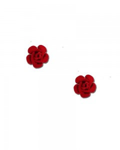 Comet Busters Stylish Red Rose Stud Earrings for Women and Girls