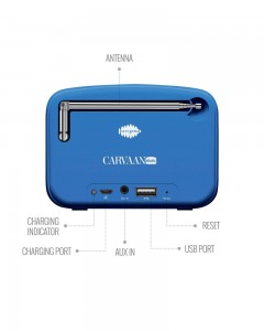 Saregama Carvaan | Mini | 2.0 Bluetooth Speaker | Blue
