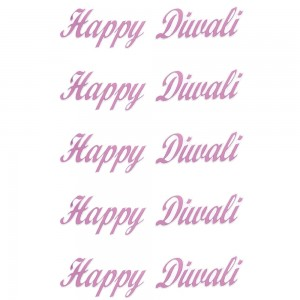 Comet Busters Light Pink Happy Diwali Gift Stickers for Envelopes, Gift Bags, Diwali Decorations (STK009)