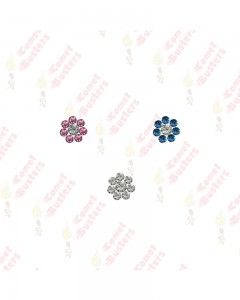 Comet Busters Floral Nose Studs Stick Ons Self Adhesive Fake Nose Studs