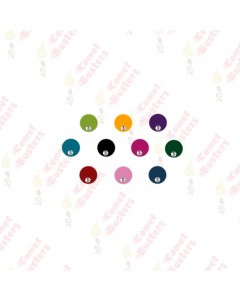 Comet Busters Multicolored Round Bindis With Stone (8 mm)