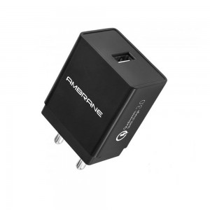 AMBRANE AQC-56 3A QUALCOMM QUICK CHARGE 3.0 MOBILE CHARGER (BLACK)
