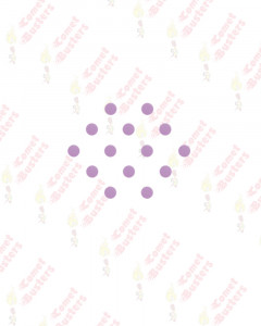 Comet Busters Basic Round Lilac Velvet Bindis (4 mm)