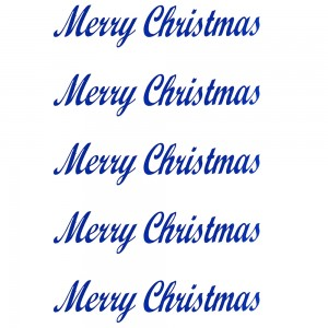 Comet Busters Merry Christmas Blue Gift Stickers for Envelopes, Gift Bags, Christmas Decorations (STK019)