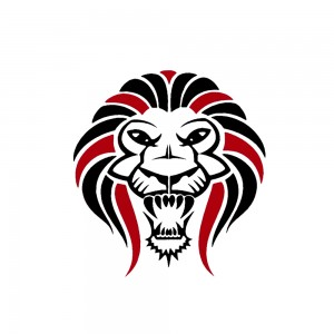 Comet Busters Black and Red Lion Temporary Water Tattoo Sticker (BJ105)