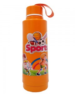 Comet Busters Orange Printed Insulated Water Bottle For Kids (600 ML)