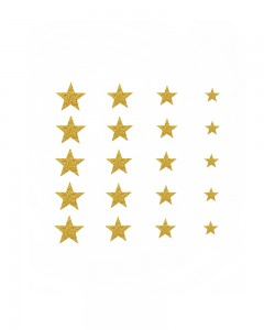 Comet Busters Glitter Star Adhesive Nail Stickers (Golden)