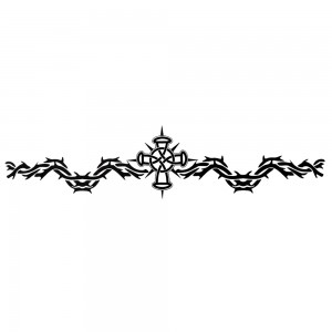 Comet Busters Black Arm Band/Back Temporary Water Tattoo Sticker (BJ119)