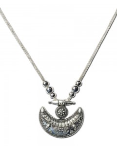 Comet Busters Designer Vintage Oxidised Silver Chain Pendant Antique Jewellery