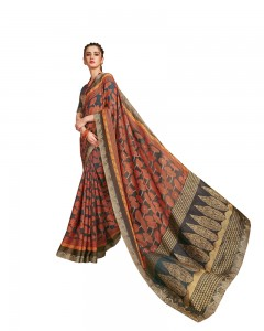 Comet Busters Printed Georgette Saree with Border