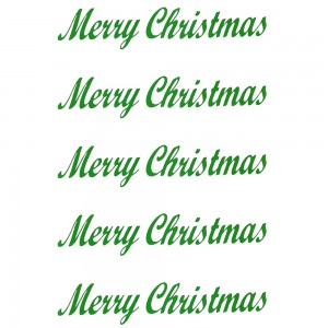Comet Busters Merry Christmas Green Gift Stickers for Envelopes, Gift Bags, Christmas Decorations (STK016)
