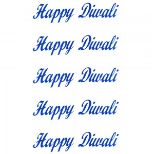 Comet Busters Blue Happy Diwali Gift Stickers for Envelopes, Gift Bags, Diwali Decorations (STK011)