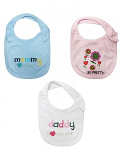 Comet Busters Newborn Cute Printed Bibs (Set Of 3)