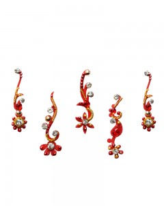 Comet Busters Designer Bridal Red Bindi
