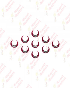Comet Busters Traditional Maroon Moon Bindi With Stones