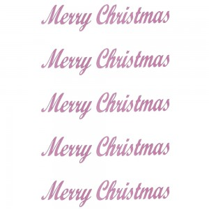 Comet Busters Merry Christmas Light Pink Gift Stickers for Envelopes, Gift Bags, Christmas Decorations (STK017)