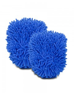 Comet Busters Microfibre Super Mitt Double Sided Blue Cleaning Gloves (2 Pieces)