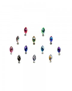 Comet Busters Multicolor Swarovski Crystal Bindi With Diamond