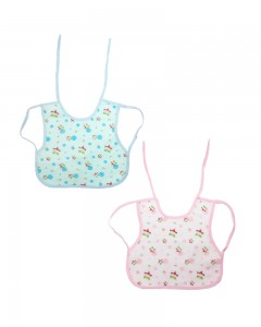 Comet Busters Newborn Cute Waterproof Printed Bibs (Set Of 2)