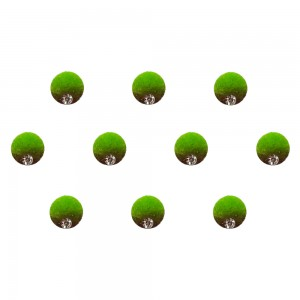 Comet Busters Green Brown Shaded Ombre Bindis With Silver Stone (6mm) (BIN1269)