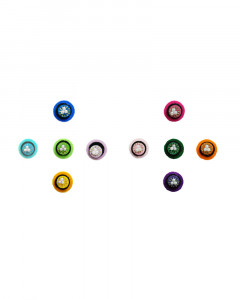 Comet Busters Multicolor Round Bindi With Small Pearl Design