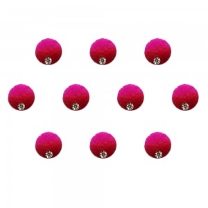 Comet Busters Pink Maroon Shaded Ombre Bindis With Silver Stone (6mm) (BIN1265)