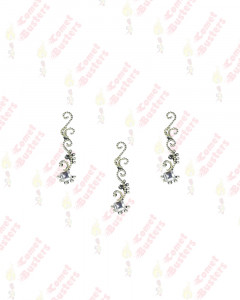 Comet Busters Latest Design Silver Long Bindis
