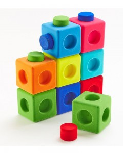 Rubbabu - Building Blocks sets of 9 (Multicolor)