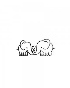 Comet Busters Temporary Tattoo - Elephant (Set of 1) - Cute Temporary Tattoos Stick On