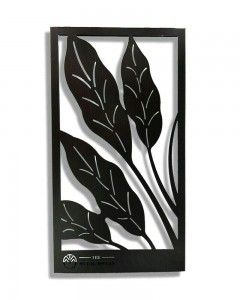 Comet Busters Metal Leaf Design Wall Mounted Hanging CNC Cutting Wall Decor (20 inch x 11 inch)