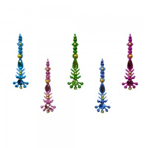 Comet Busters Multicolor Long Bindis With Stone Work (BIN1097)