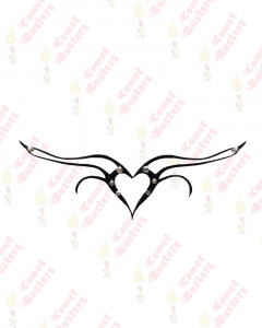 Comet Busters Heart Temporary Tattoo With Stones