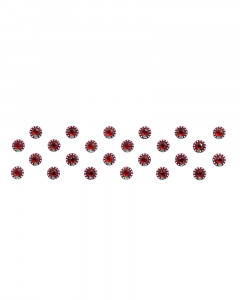 Comet Busters Fancy Maroon Bindis With Stone