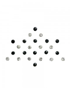 Comet Busters Crystal Collection Black Silver Bindi