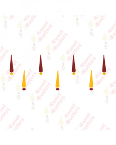 Comet Busters Maroon and Yellow Tilak Bindis With Dots