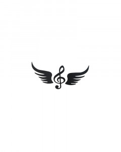 Comet Busters Black Music Symbol Temporary Tattoo