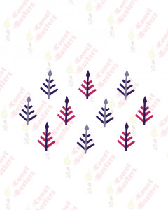 Comet Busters Leaf Design Pink and Purple Bindi