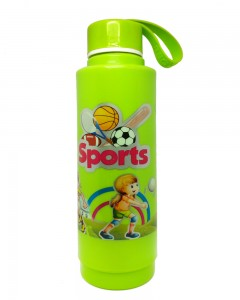 Comet Busters Green Printed Insulated Water Bottle For Kids (600 ML)
