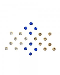 Comet Busters Diamond Collection Blue Silver Gold Glitter Bindi