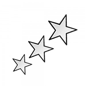 Comet Busters Star Glitter Water Tattoo with Black Border (BJ122)